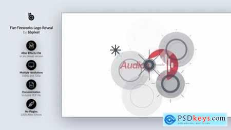 Videohive Clean and Flat Fireworks Logo Reveal 13310045