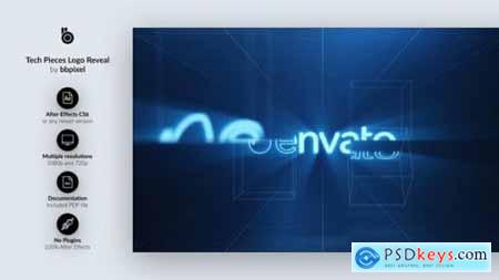 Videohive Tech Pieces Logo Reveal 15532132