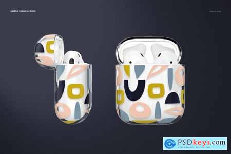 AirPods Clear Case Mockup Set 02 4433728