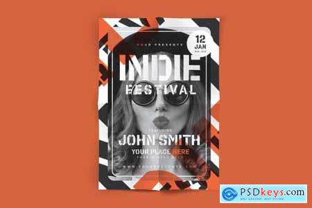 Indie Festival Flyer 4451370