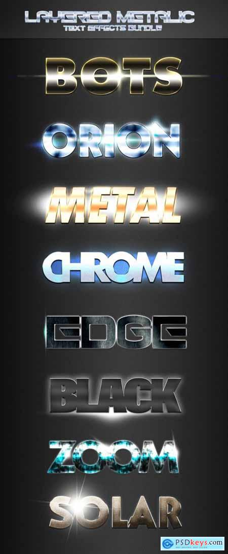 Cool Metal Text Effect Mockup Bundle 314108204