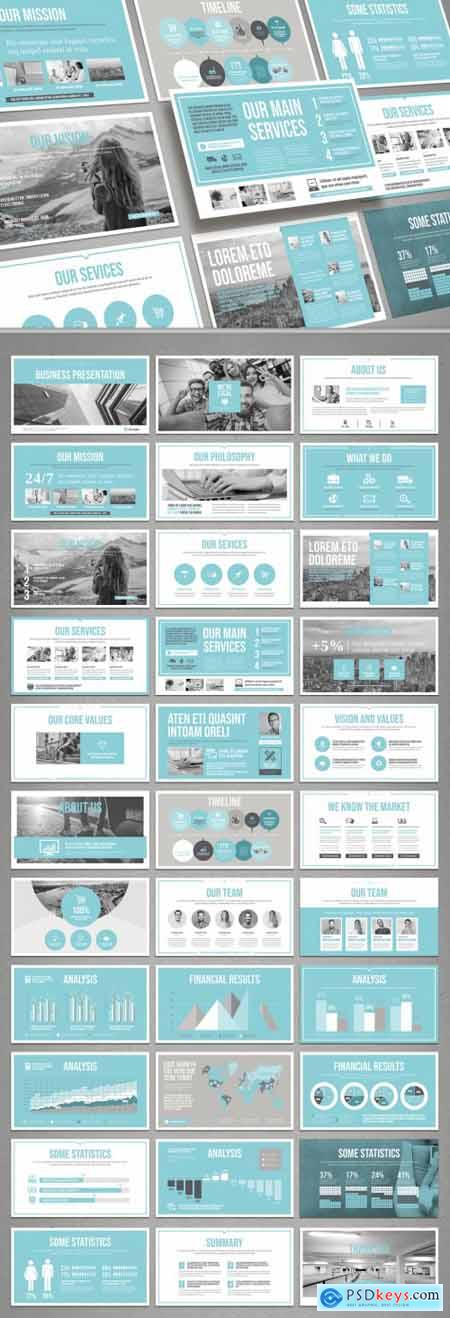 Pale Blue and Light Gray Presentation Layout 314131838