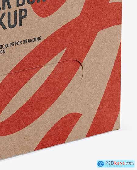 Kraft Paper Box - Half Side View 53467