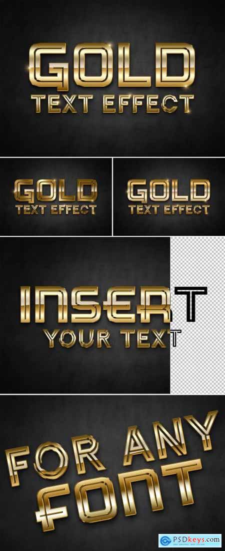 Gold 3D Text Effect Mockup 314118808