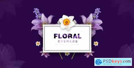 Videohive Floral 8 Opening Footages- Glamour Wedding Titles- Flowers and Shapes- Vintage and Hipster- Romantic 20248927