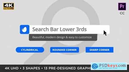 Videohive Search Bar Titles & Lower Thirds MOGRT for Premiere Pro 25433076