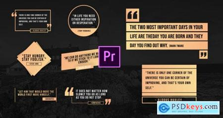 Videohive Unique Quotes Titles 25428892