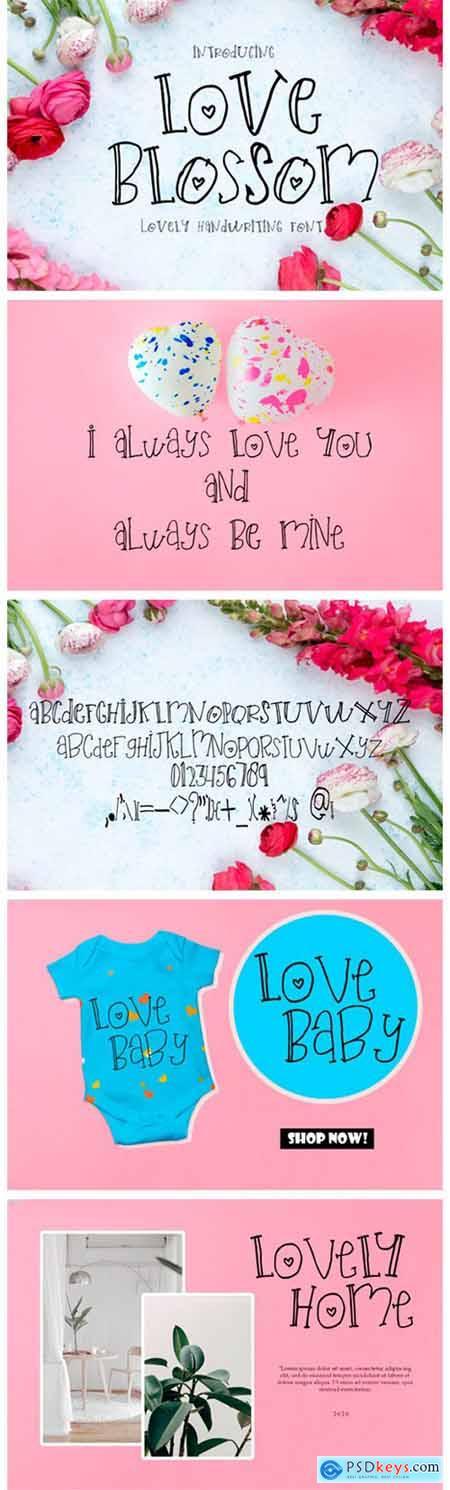 Love Blossom Font