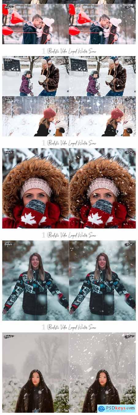 10 Neo Realistic Winter Snow Overlays 2450689