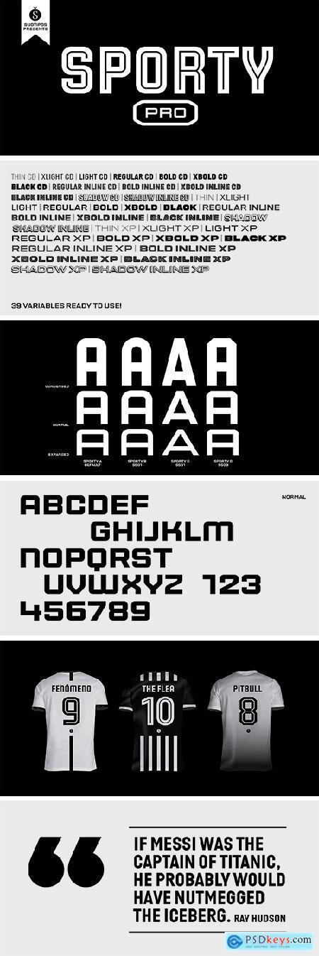 Sporty Pro Font Family