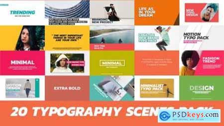 Videohive 20 Trendy Typography Scenes 22271860