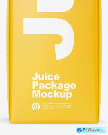 1L Glossy Juice Package Mockup - Front View 53451