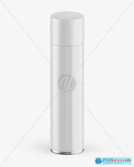 Glossy Spray Bottle w- Matte Cap Mockup 53476