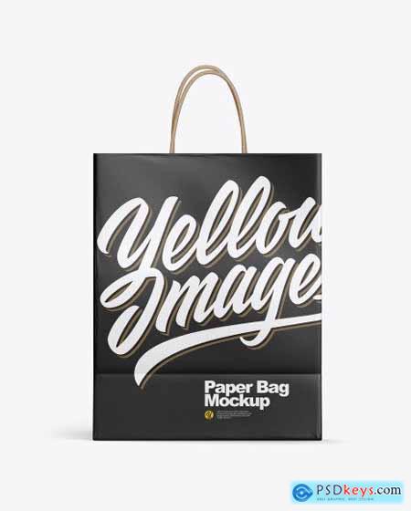 Matte Shopping Bag w Rope Handles Mockup 53388