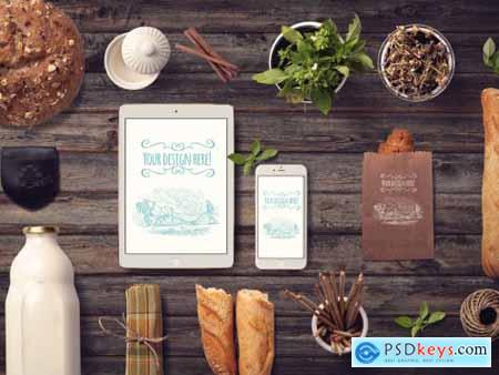 Organic Food Mockup