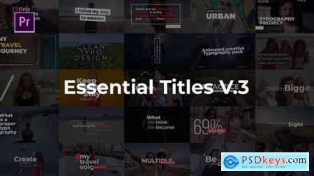 Videohive Essential Title V.3 25400405