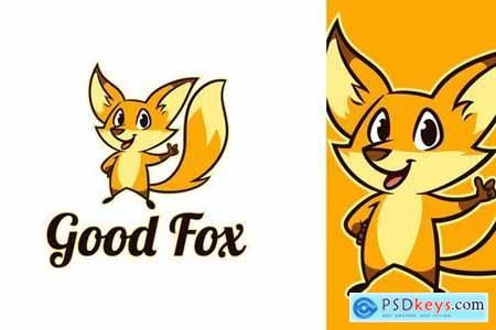 Cartoon Cute Fox Character Mascot Logo