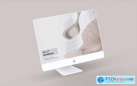 Clay iMac Mockup 1