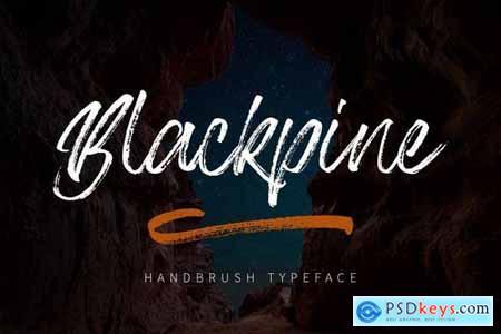 Blackpine - Handbrush Typeface