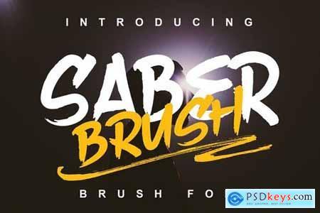 Saber Brush Font 4444410