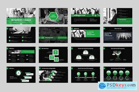 Business Goals Powerpoint Google Slides and Keynote Templates