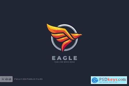 Eagle Badge Modern Logo Template
