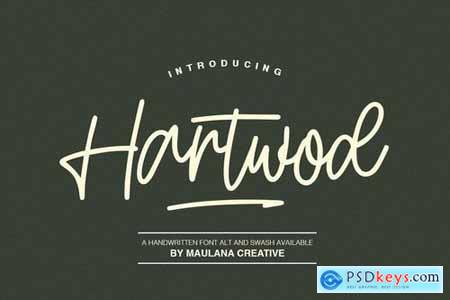 Hartwod Handwritten Font