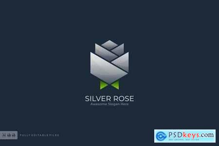 Silver Rose Logo Template