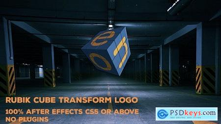 Videohive Rubik Cube Transform Logo 15437793
