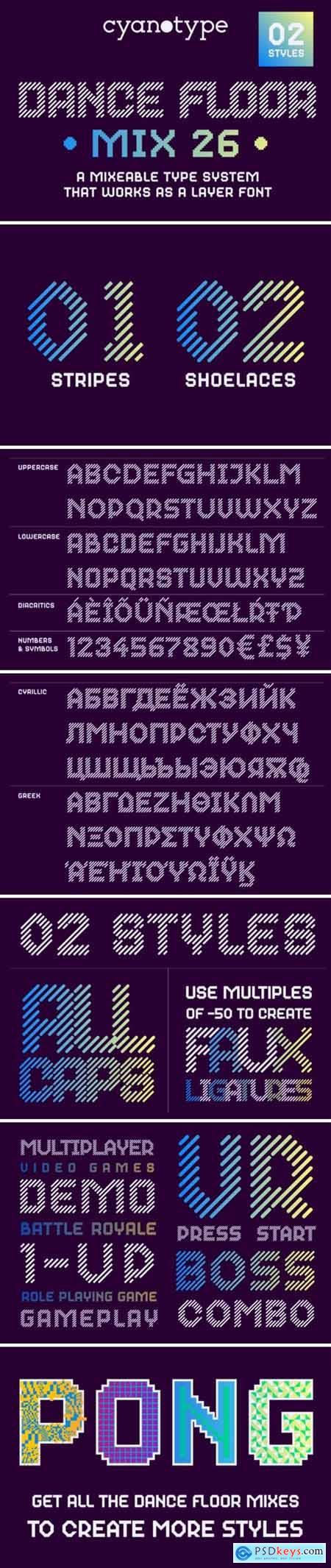 Dance Floor MIx 26 Font