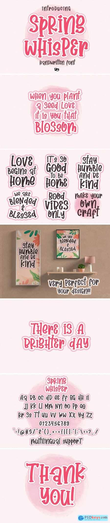 Spring Whisper Font