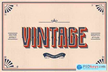 Vintage Text Effects (Illustrator) 3584064