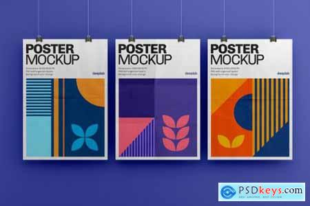 Vertical Poster Mockup Set 4430102