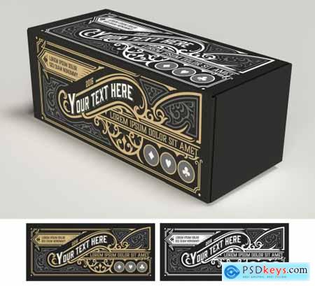 Vintage-Style Label Layout 4451909