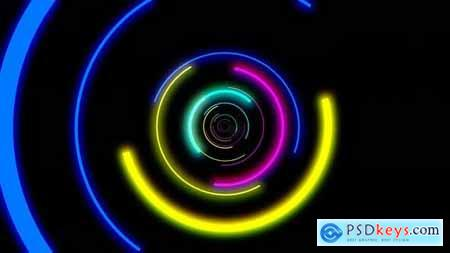 Beautiful Colorful Abstract Vj Loop Of Circles 24034804