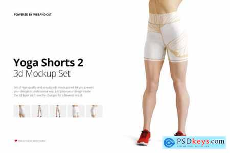 Yoga Shorts 2 Mock-up 4272508