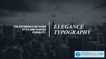 Videohive Minimal Typography 22953634