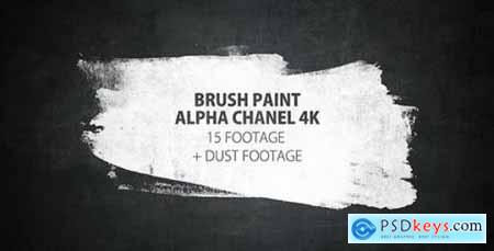 Videohive 16 Paint Brush Stroke Transitions Reveal Pack Matte- Oil Art Dust Ink Grunge Texture- Chalk Board 16143561