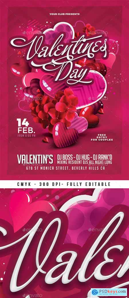 St Valentine Day Flyer 23145943