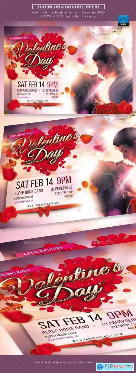 Valentine Romantic Couple Event Invitation 23139321