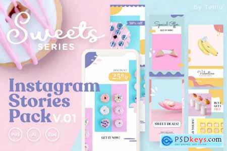 Instagram Stories Pack v.01 Sweets Series