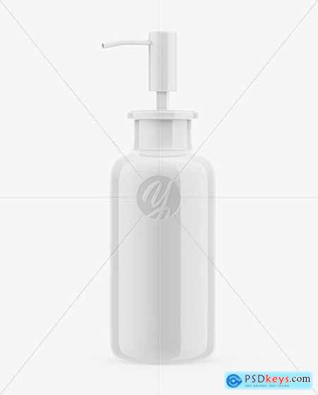 Glossy Cosmetic Bottle Mockup 53468