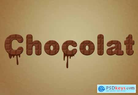 Chocolate Text Effect with Drip Elements 314539846