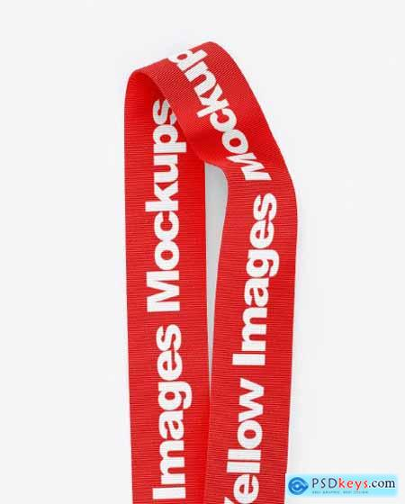 Lanyard Mockup - Top View 53528