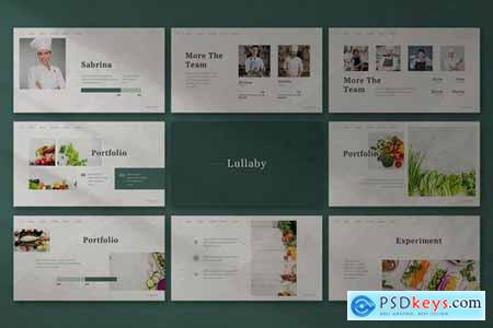 Lullaby - Vegetables Powerpoint Google Slides and Keynote Templates