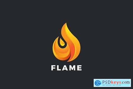 Logo Fire Flame Drop Power Energy