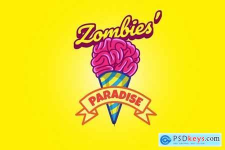Zombie Ice Cream - Mascot Logo
