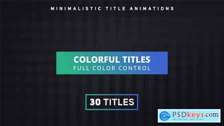 Videohive Colorful Titles 16504969