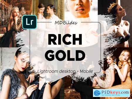 Lightroom Preset, RICH GOLD, Mobile 4385712