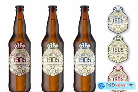 Vintage Style Beer Label Layout 4451905